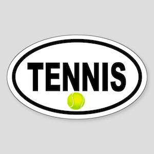 Tennis Ball Oval Sticker