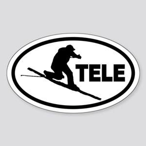 Telemarking Telemarker Oval Sticker