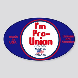 Pro Union Sticker (Oval)