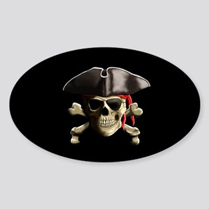 The Jolly Roger Pirate Skull Sticker