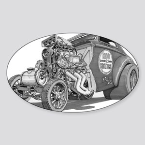 Old School Gasser Oval Sticker