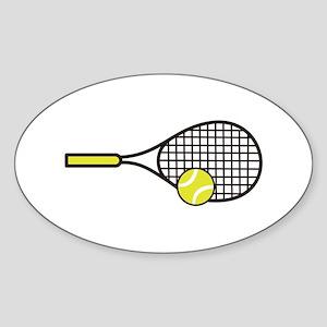 TENNIS RACQUET & BALL Sticker