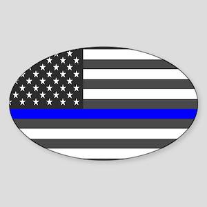 US Flag Blue Line Sticker
