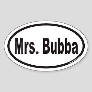 Mrs. Bubba Euro Oval Sticker