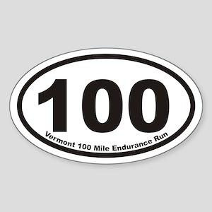 Vermont 100 Mile Endurance Run Euro Oval Sticker