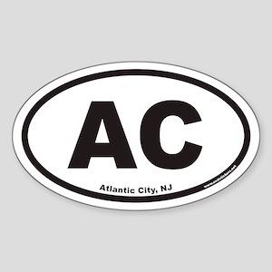 Atlantic City AC Euro Oval Sticker
