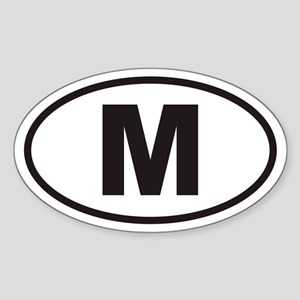 M Euro Oval Sticker