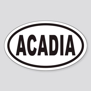 ACADIA National Park Euro Oval Sticker