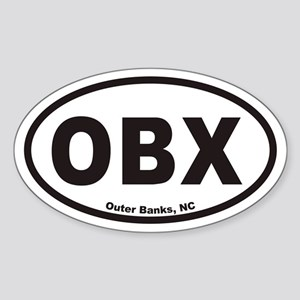 OBX Euro Oval Sticker