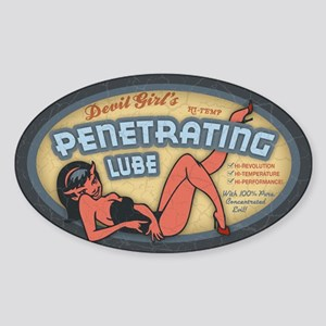 Penetrating Lube Oval Sticker