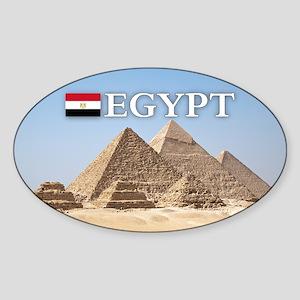 Giza Pyramids in Egypt Sticker (Oval)