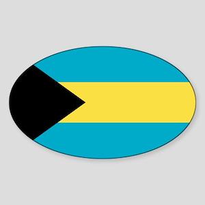 Bahamian Flag Sticker (Oval)