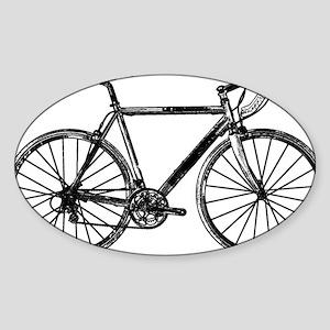 Road Bike Sticker (Oval)
