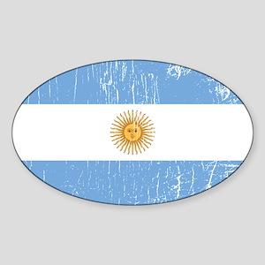 Vintage Argentina Oval Sticker
