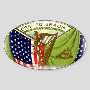 Erin Go Bragh Flags Sticker (Oval)