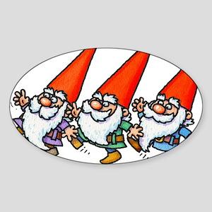 THREE GNOMES DANCING Sticker