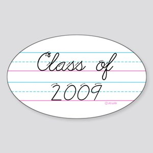 Class of 2009 Oval Sticker