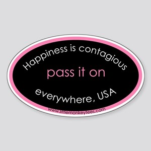 Happiness Pass it on bumper sticker oval