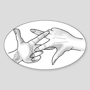 ScissaFingas Logo Sticker (Oval)