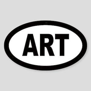 Art Car Oval Sticker