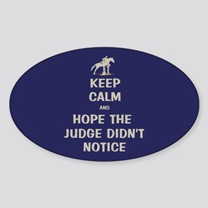 Funny Keep Calm Horse Show Sticker