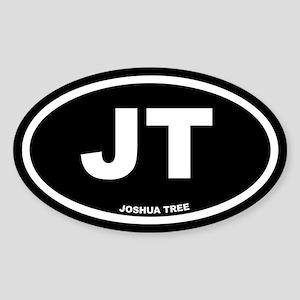 JT Joshua Tree, CA Black Euro Oval Sticker