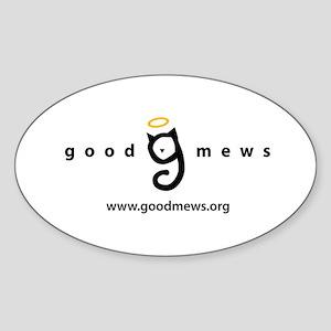 Good Mews Logo Sticker (Oval)