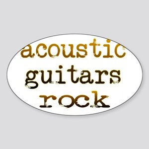 Acoustic Guitars Rock Sticker (Oval)
