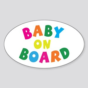 Baby On Board Oval Sticker