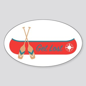 Get Lost Canoe Sticker