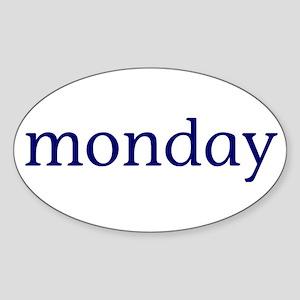 Monday Sticker (Oval)