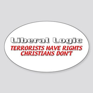Liberal Logic Sticker (Oval)