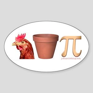 Chicken Pot Pi Oval Sticker