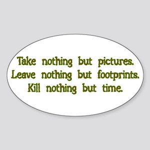 Pictures, Footprints Rectangle Sticker