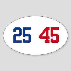 25th Amendment Trump Sticker (Oval)