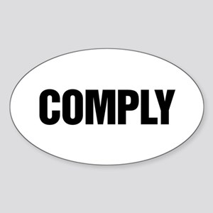 COMPLY Oval Sticker