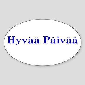 Hyvää Päivää Oval Sticker