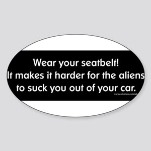 seatbelt-aliens Sticker