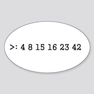 LOST numbers Oval Sticker
