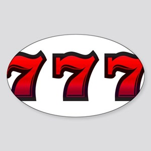 777 Sticker (Oval)