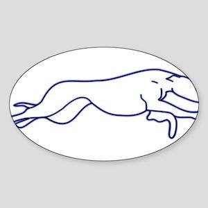 More Random Greyhound Stuffs! Sticker (Oval)
