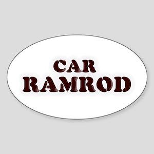 Car Ramrod Oval Sticker