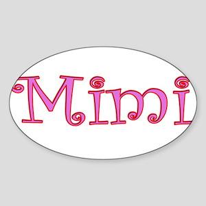Mimi cutout click to view Rectangle Sticker