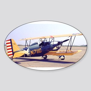 Bi-Plane 3 Sticker (Oval)