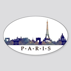 Mosaic Skyline of Paris France Sticker