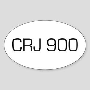 CRJ 900 Oval Sticker