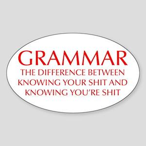 grammar-difference-OPT-RED Sticker
