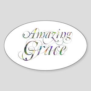 Amazing Grace Sticker (Oval)