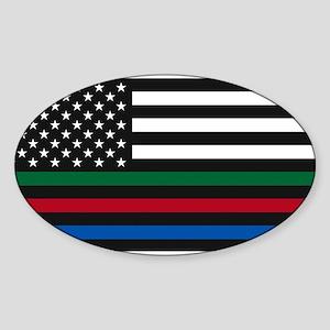 Thin Blue Line Decal - USA Flag - Red, Blu Sticker