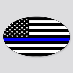 Blue Lives Matter American Flag Police Thi Sticker